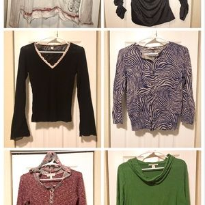 Lot of 6: Variety of Name Brand Longsleeve Tops